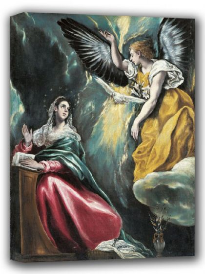 El Greco (Domenico Theotocopuli): The Annunciation. Fine Art Canvas. Sizes: A4/A3/A2/A1 (002043)